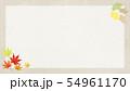 背景-和-和風-和柄-和紙-秋-紅葉-イチョウ-フレーム 54961170