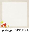 背景-和-和風-和柄-和紙-秋-紅葉-フレーム 54961171