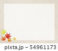 背景-和-和風-和柄-和紙-秋-紅葉-フレーム 54961173