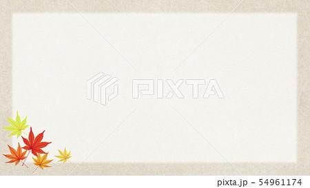 背景-和-和風-和柄-和紙-秋-紅葉-フレーム 54961174