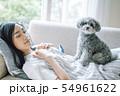 犬のいる暮らし 女性 54961622