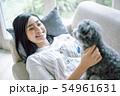 犬のいる暮らし 女性 54961631