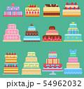 Wedding flat cake pie sweets dessert bakery flat simple style illustration fresh tasty dessert sweet 54962032