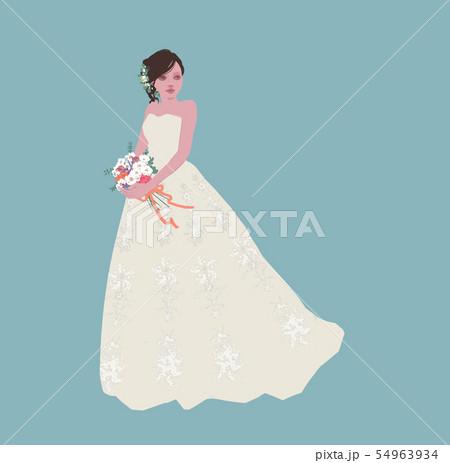 花嫁(ベクター化) 54963934