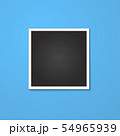square frame isolated on blue 54965939