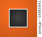square frame isolated on red 54965941