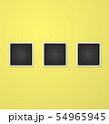 square frame isolated on yellow 54965945