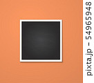 square frame isolated on red 54965948