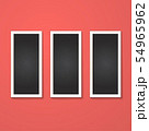 rectangles frame isolated on red 54965962