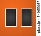 rectangles frame isolated on red 54965967