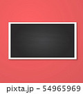 rectangle frame isolated on red 54965969
