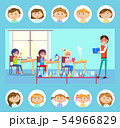 Pupils Making Research, Chemistry Lessons Vector 54966829