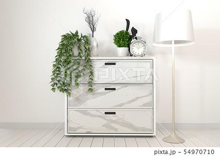 Mock up Tv shelf cabinet in modern empty room. 3d 54970710