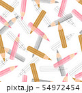 Vector seamless watercolor pencils pattern. 54972454