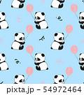 Seamless pattern with cute panda bears 54972464