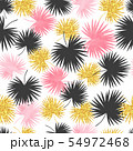 Vector seamless palm leaves pattern. 54972468