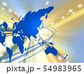 ビジネスイメージ 世界地図 日本地図 日本経済 成長 貿易 世界販売 54983965