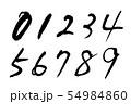 筆文字 数字.n 54984860