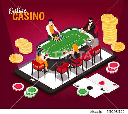 Isometric Online Casino Composition 55003592