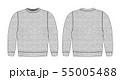 スウェットシャツイラスト/前面・背面 (杢グレー・色むらテクスチャ) 55005488