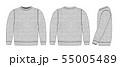 スウェットシャツイラスト/前面・背面・側面 (杢グレー・色むらテクスチャ) 55005489
