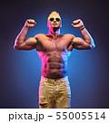 Handsome bodybuilder man naked male muscular torso 55005514