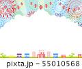 夏祭り 花火 入道雲 55010568