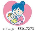 赤ちゃんと母親のアイコン 55017273