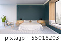 Modern and minimalist interior of Bed room  55018203