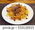 ウズベキスタンの代表料理プロフ(ピラフ) 55018935