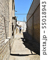 旧市街地の路地を走る自転車(ウズベキスタン, ブハラ) 55018943