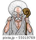 神様 白着物 左杖右虫眼鏡 55019769