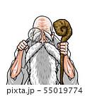 神様 白着物 左杖右虫眼鏡 55019774
