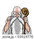 神様 白着物 左杖右虫眼鏡 55019776