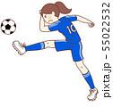 サッカー選手(女性) 55022532