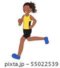 黒人マラソン選手(女性) 55022539