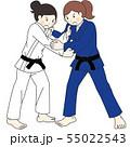 女子柔道選手 55022543