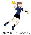 女子ハンドボール選手 55022545