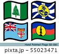 手描きの旗アイコン,ノーフォーク島の旗,ロード・ハウ島の旗,フィジーの国旗,ニューカレドニアの旗 55023471