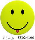 CG 3D イラスト 立体 デザイン スマイル 笑顔 ピース マーク アイコン 背景透明 切り抜き 55024190