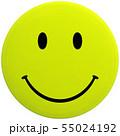CG 3D イラスト 立体 デザイン スマイル 笑顔 ピース マーク アイコン 背景透明 切り抜き 55024192