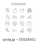 HEALTHCARE AND FITNESS ICON SET 55026931