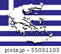 3D map of Greece on the national flag 55031103