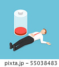 Isometric businessman fainting on the floor with 55038483