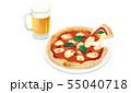 ピザとビール 55040718
