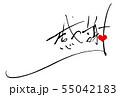 筆文字 感謝(ハート).n 55042183