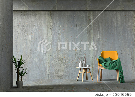 interior living room with armchair 55046669