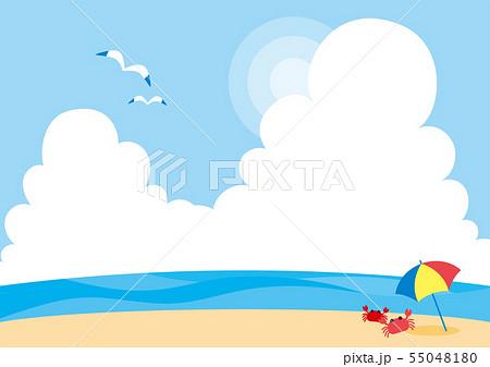 夏の海水浴場 背景 壁紙 のイラスト素材