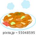 皿に盛ったソース焼きそば 55048595