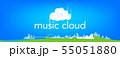 ミュージッククラウドイラスト 55051880